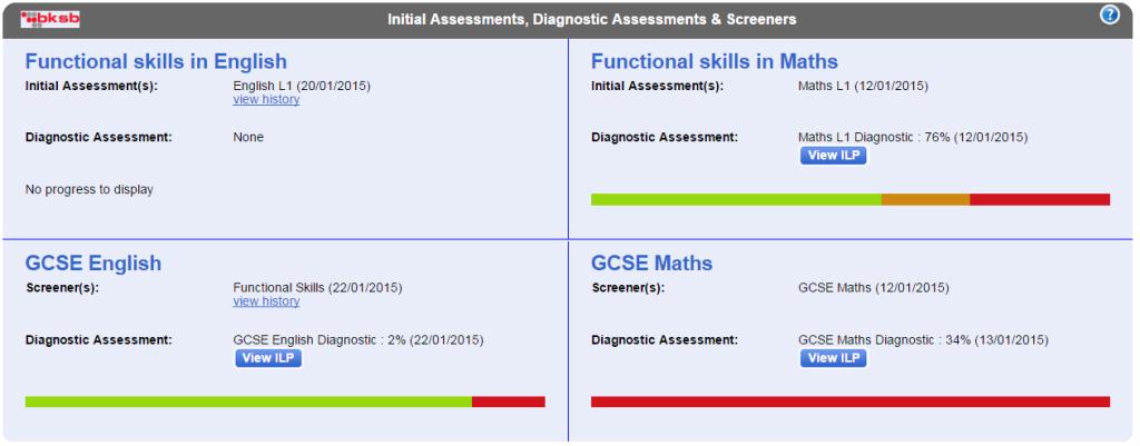 diagnostic assessments