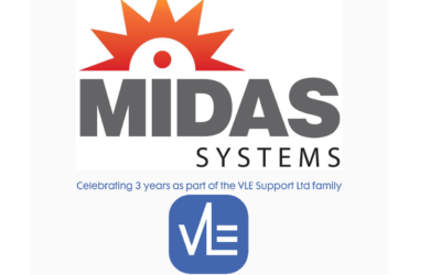 VLE Support and Midas Systems celebrate anniversary